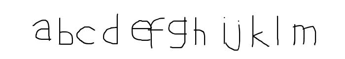 Learn English with Arif Font LOWERCASE
