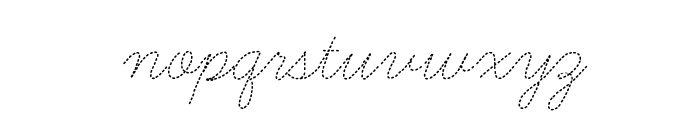 Learning Curve Dashed Font LOWERCASE