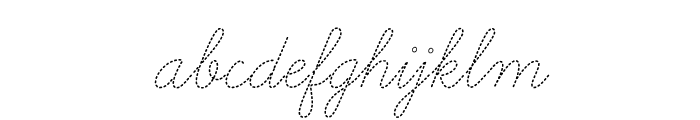LearningCurveDashedPro Font LOWERCASE