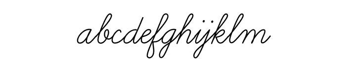 LearningCurvePro Font LOWERCASE