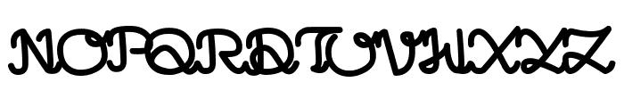 LearningMachine Font UPPERCASE