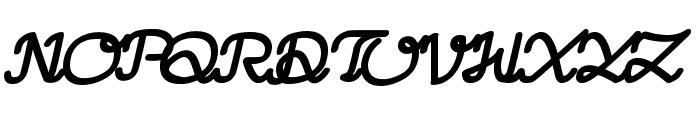 LearningMachineItalic Font UPPERCASE