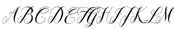 Leather Font UPPERCASE