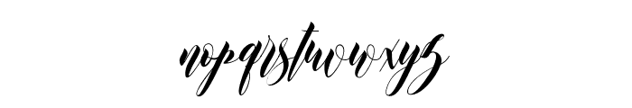 Leather Font LOWERCASE