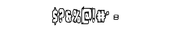 Leatherface Bold Outline Font OTHER CHARS