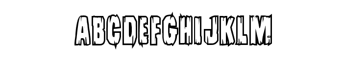 Leatherface Bold Outline Font UPPERCASE