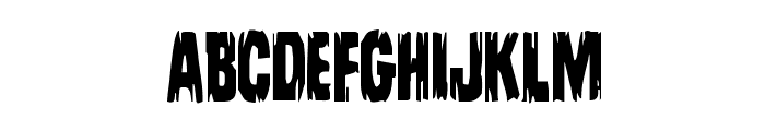 Leatherface Condensed Font UPPERCASE