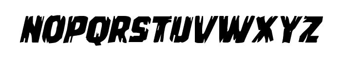 Leatherface Expanded Italic Font LOWERCASE