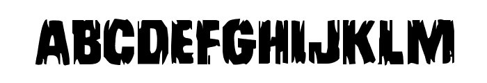 Leatherface Expanded Font UPPERCASE