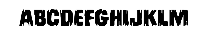 Leatherface Expanded Font LOWERCASE