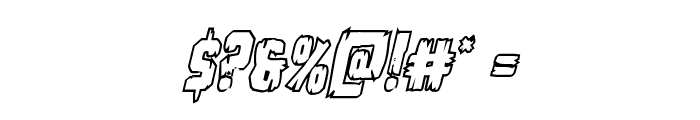 Leatherface Outline Italic Font OTHER CHARS