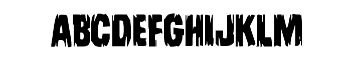 Leatherface Regular Font UPPERCASE