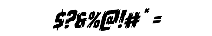 Leatherface Rotalic Font OTHER CHARS