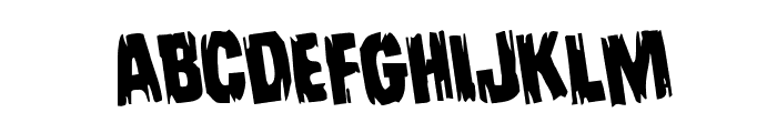Leatherface Rotated Font UPPERCASE