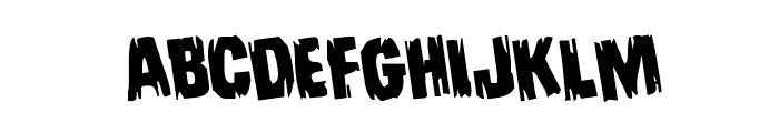 Leatherface Rotated Font LOWERCASE