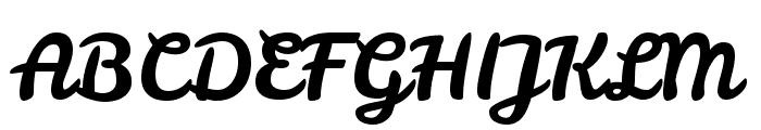 Leckerli One Font UPPERCASE