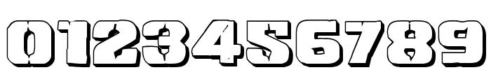 Left Hand Luke 3D Font OTHER CHARS