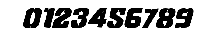 Left Hand Luke Condensed Italic Font OTHER CHARS