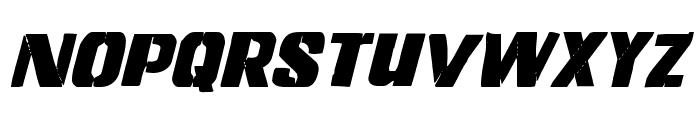 Left Hand Luke Condensed Italic Font UPPERCASE