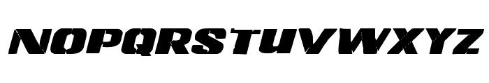 Left Hand Luke Expanded Italic Font UPPERCASE