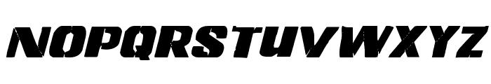 Left Hand Luke Italic Font UPPERCASE