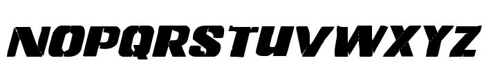 Left Hand Luke Italic Font LOWERCASE