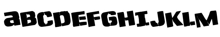 Left Hand Luke Rotated Font UPPERCASE