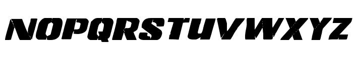 Left Hand Luke Staggered Italic Font UPPERCASE