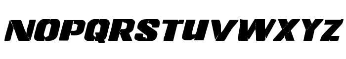 Left Hand Luke Staggered Italic Font LOWERCASE
