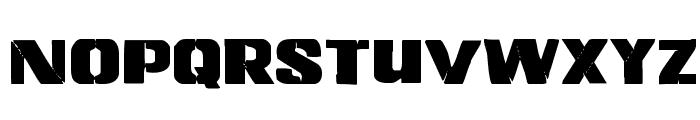 Left Hand Luke Staggered Font LOWERCASE