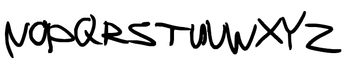 Left handed writing looks weird Font UPPERCASE