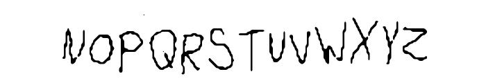 Lefty Monster Font UPPERCASE