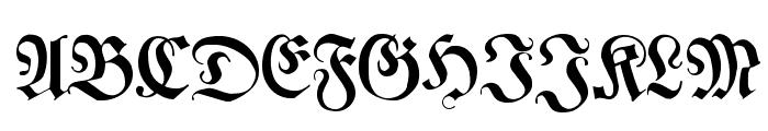 Leibniz-Fraktur Font UPPERCASE