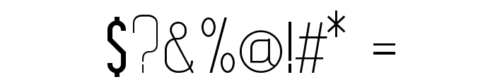 Leicht light Font OTHER CHARS