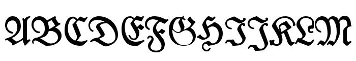 Leipzig Fraktur Bold Font UPPERCASE