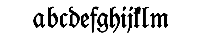 Leipzig Fraktur Normal Font LOWERCASE
