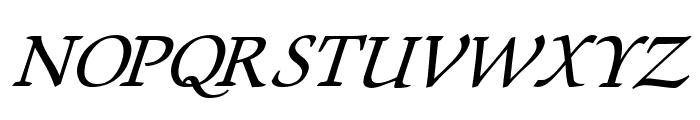 Lekhana Italic Font UPPERCASE