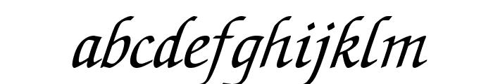 Lekhana Italic Font LOWERCASE