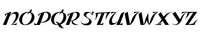 Leningradka Kursiv Font UPPERCASE