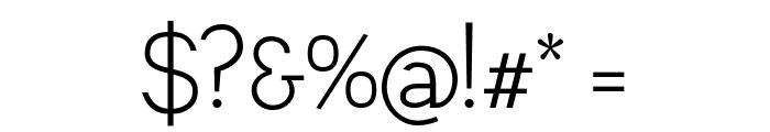 Leon Light Font OTHER CHARS