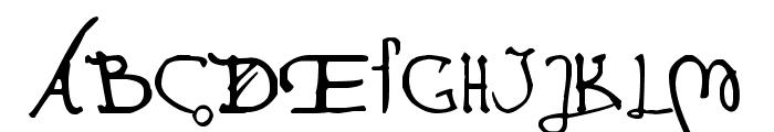 Leonardo Hand F Font UPPERCASE