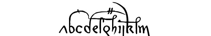 Leonardo Hand F Font LOWERCASE