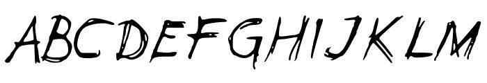 Leonards Font UPPERCASE