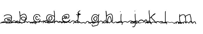 Leslettresdadam Font LOWERCASE