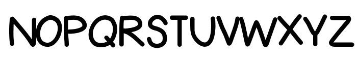LesliesHand Font UPPERCASE