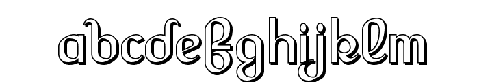 Lesser Concern Shadow Font LOWERCASE