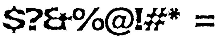Lethargic BRK Font OTHER CHARS