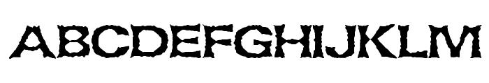 Lethargic BRK Font UPPERCASE