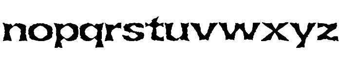 Lethargic BRK Font LOWERCASE