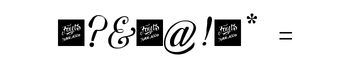 Letra Hipster - Personal Use Font OTHER CHARS